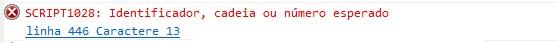 identificador_cadeia_ou_numero_esperado
